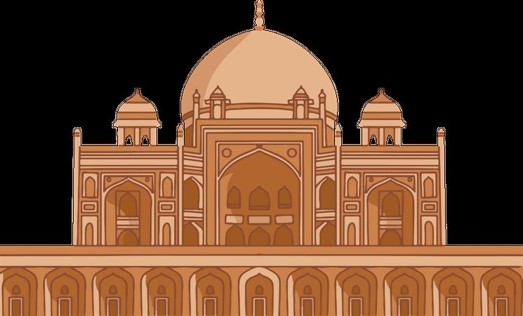 Humayuns Tomb Illustration
