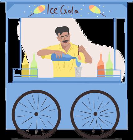 Ice Gola Illustration