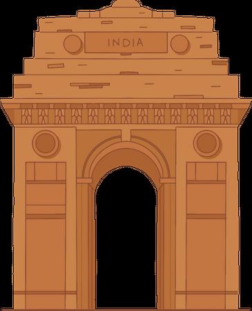 India Gate Illustration