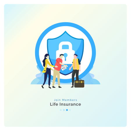 Join to Life Insurance Agent Illustration