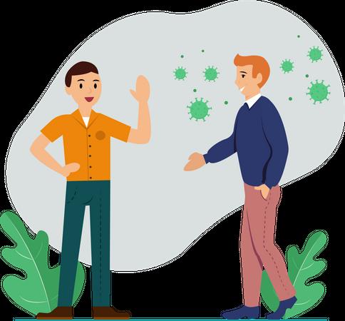 Keep Social Distance Illustration