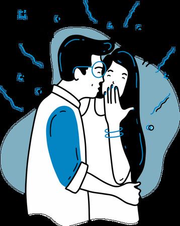 Kiss Day Illustration
