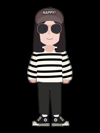 Lady character Illustration