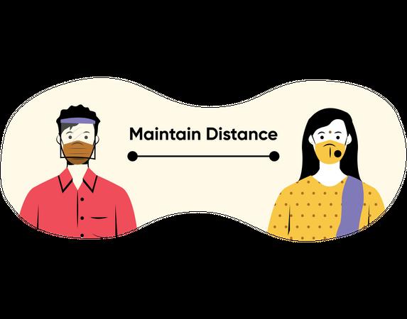 Maintain distance Illustration