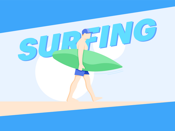 Man Going For Surfing