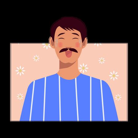 Man Laughing Illustration