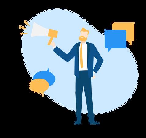 Marketing officer Illustration
