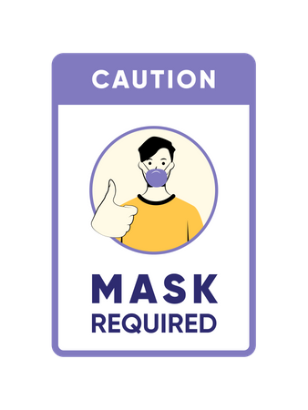 Mask required Illustration
