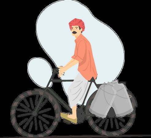 Milk Man Illustration