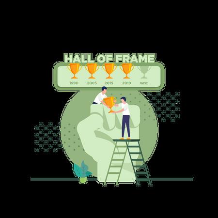 Best team Adds trophies Illustration