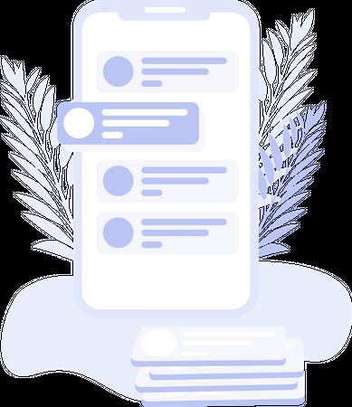 Mobile application Illustration