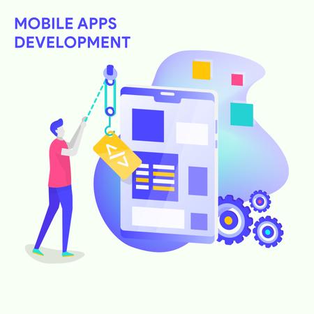 Mobile Application Development Illustration