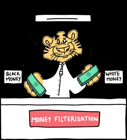 Money filterisation Illustration