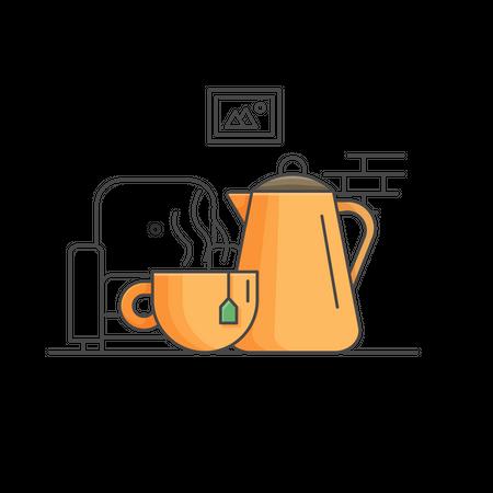 Morning tea Illustration
