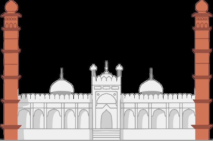 Moti Masjid Illustration