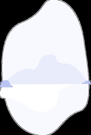 Mountain and lake Illustration