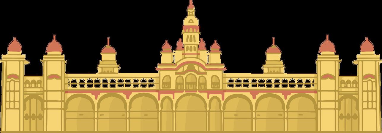 Mysore Palace Illustration