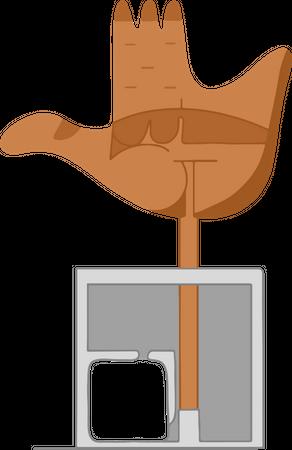 Open Hand Monument Illustration
