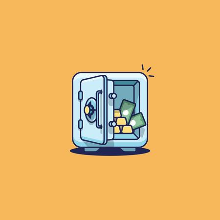 Open Vault Illustration