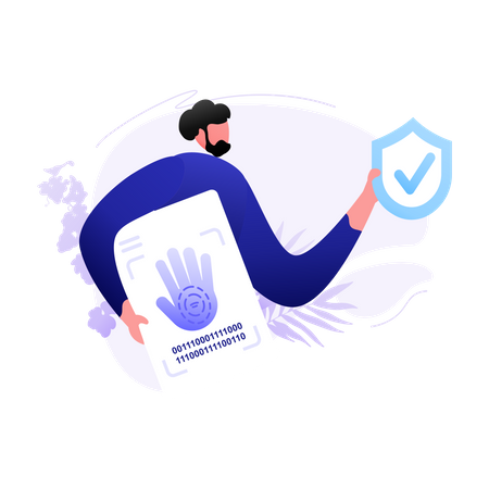 Palm recognition Illustration