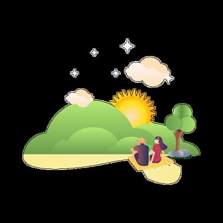 Panorama enthusiast illustration Illustration