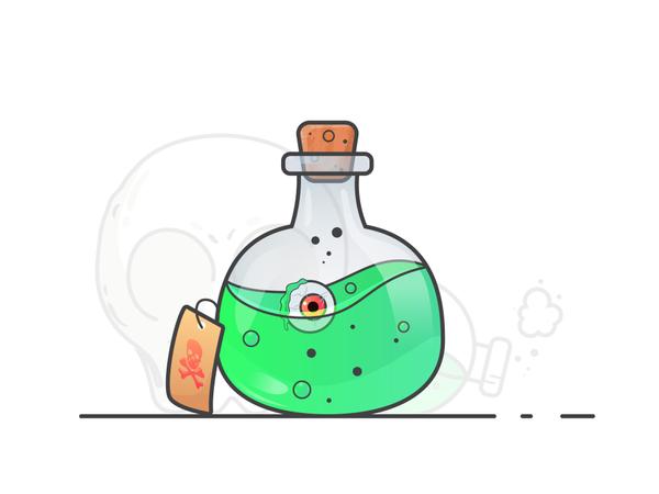 Potion bottle Illustration