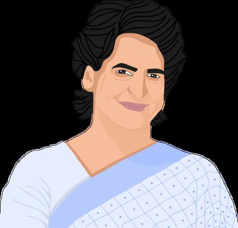 Priyanka Gandhi Illustration