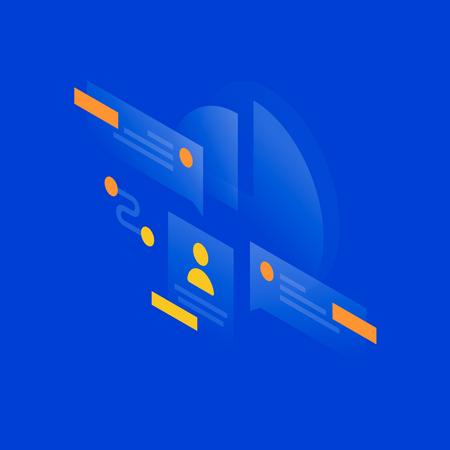 Profile data Illustration