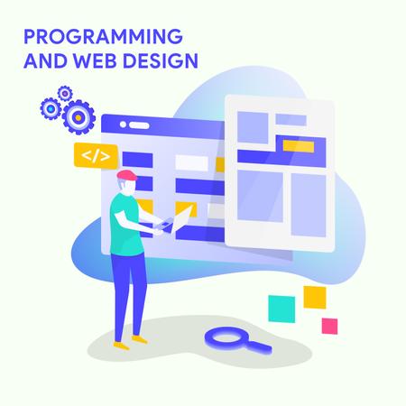 Programming And We Design Illustration