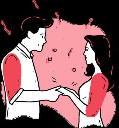 Promise Day Illustration