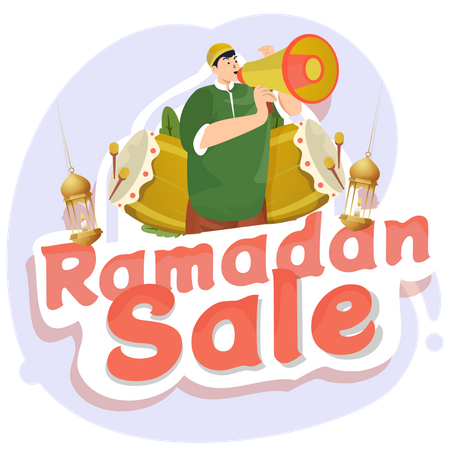 Ramadan sale promotion Illustration