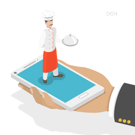 Recipe fast delivery Illustration