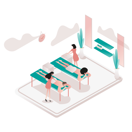 Relax and Spa Room Illustration