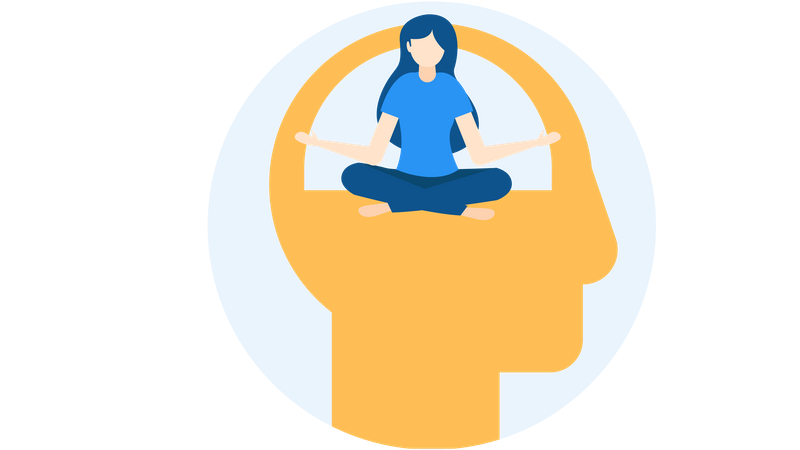 Best Free Relaxing mind Illustration download in PNG & Vector format
