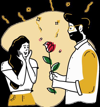 Rose Day Illustration