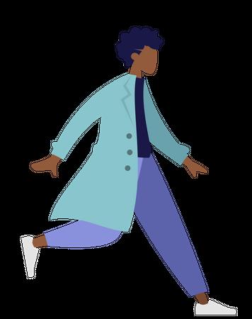 Running doctor Illustration