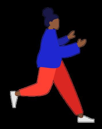 Running lady Illustration