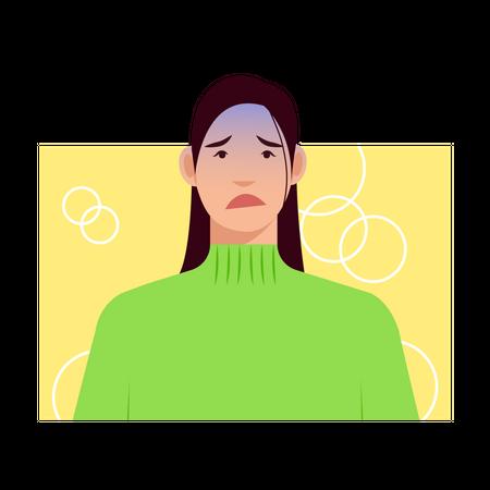 Sad female Illustration