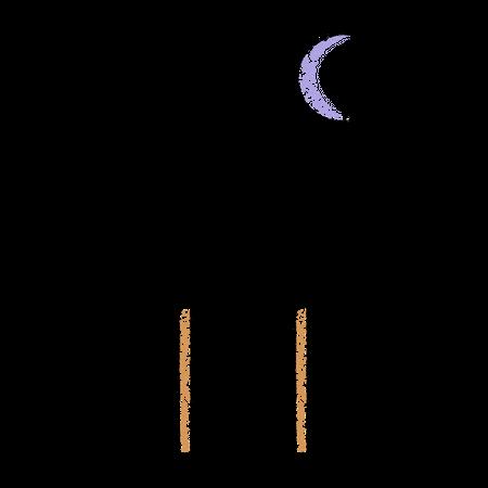 Sad figure Illustration
