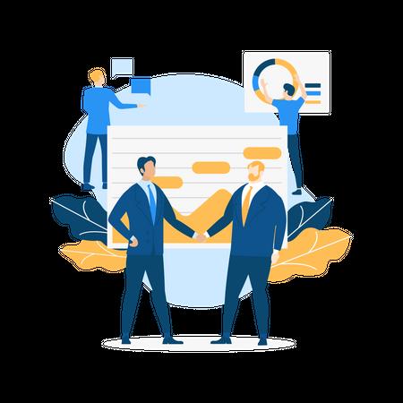 Sales team Illustration