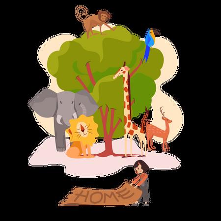 Save the animals Illustration