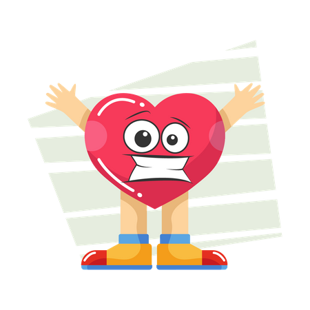 Scared heart Illustration