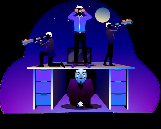 Search hacker Illustration