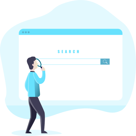Search on web Illustration