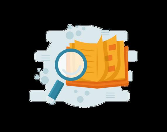 Searching data Illustration