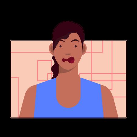 Shocked female Illustration