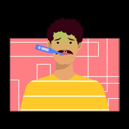 Sick man Illustration