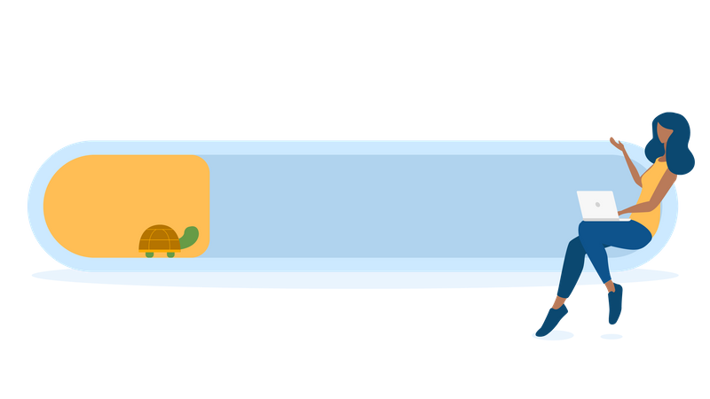 Slow loading Illustration