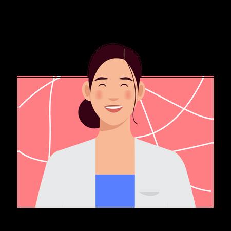 Smiling girl Illustration