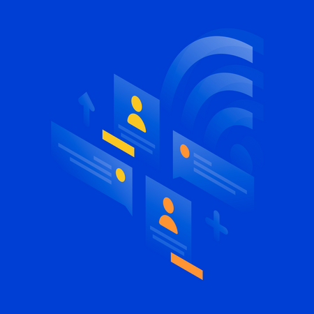 Social connection - wifi Illustration